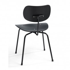 SE68 CHAIR BLACK, BLACK POWDER COATED, PLEASE WAIT TO BE SEATED