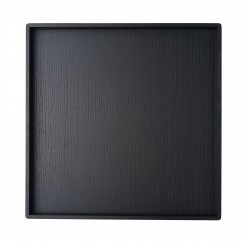 BLACK TRAY, STAINED OAK, LOUISE ROE
