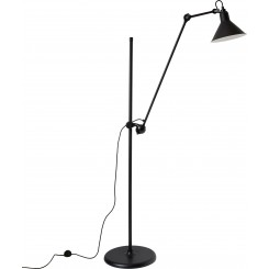 LG-FLOOR LAMP, BLACK/SATIN, LAMPE GRAS
