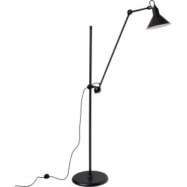 LG-FLOOR LAMP, BLACK/SATIN, LAMPE GRAS