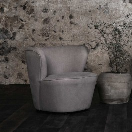 LOUNGE SOFA 1 SEATER, CHALK, NOCTURNALS