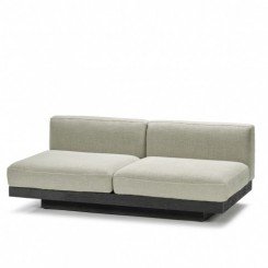 BENCH TWO SEATER, RUDOLPH, SAND/BLACK, VINCENT DUYSEN, SERAX